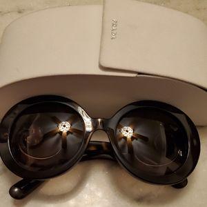Oversize Prada sunglasses